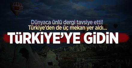 Türkiye'ye gidin