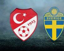 Türkiye - İsveç maçı muhtemel 11
