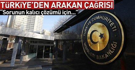 Son dakika... Türkiyeden Arakan açıklaması