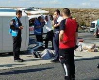 Atatürk Havalimanında personel servisi kaza yaptı