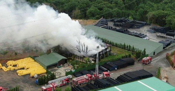 İstanbul'da fabrika yangını!