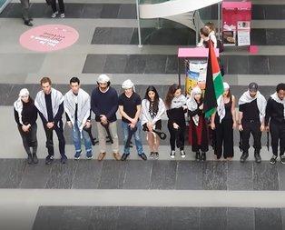 Cenevre Üniversitesinde Filistin için gösteri