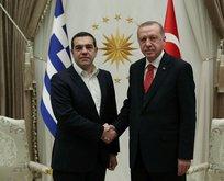 Başkan Erdoğan ile Cipras görüşmesinden ilk kareler