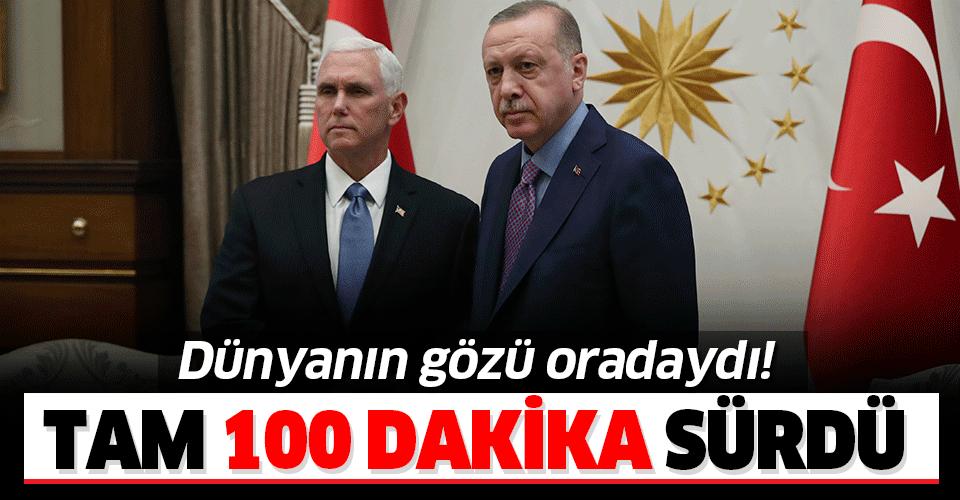 Son dakika: Başkan Erdoğan - Mike Pence görüşmesi sona erdi