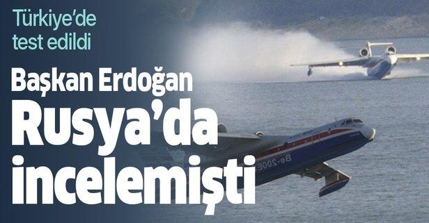 Başkan Erdoğan Rusya'da incelemişti! Ve test edildi!