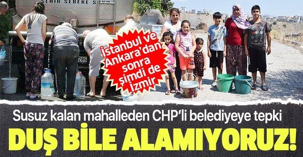 İzmir'deki susuz mahallede İZSU'ya tepki