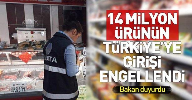 14 milyon ürünün Türkiyeye girişi engellendi