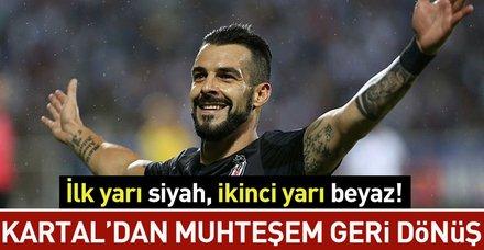 Kartal'dan muhteşem geri dönüş I BB Erzurumspor: 1 - Beşiktaş: 3 (MAÇ SONUCU)