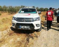 Suriye'de Türk Kızılay aracına kalleş saldırı