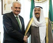 Başbakan Yıldırım; Kuveyt Emiri ile görüştü!