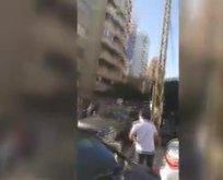 Lübnanlılar Türk bayraklarıyla sokağa indi