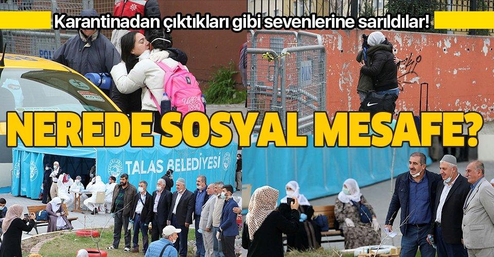 Yurtlarda karantinada olan vatandaşların tahliye süreçleri başladı! Sosyal mesafeyi hiçe saydılar!