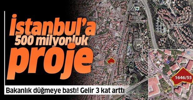 İstanbul'da 500 milyonluk proje