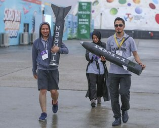 TEKNOFEST katılımcılarını yağmur bile durduramadı