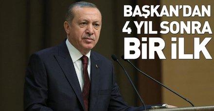 Başkan Erdoğan, 4 yıl sonra ilk kez kabullerini Çankaya Köşkünde yapacak