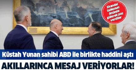 Küstah Yunanistan sahibi ABD ile birlikte haddini aştı! Akıllarınca Türkiye'ye mesaj vermeye kalktılar...