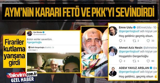 AYM'nin kararı FETÖ ve PKK'yı sevindirdi!