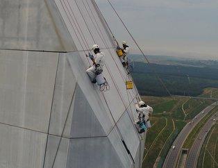 322 metrede nefes kesen çalışma! Yavuz Sultan Selim Köprüsü'nde bakım çalışmaları başladı