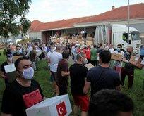 Türkiye'nin yardımları Sancak bölgesine ulaştı!