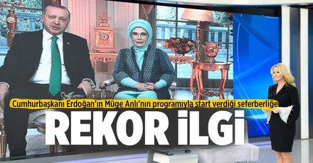 Erdoğan'ın başlattığı seferberliğe rekor ilgi