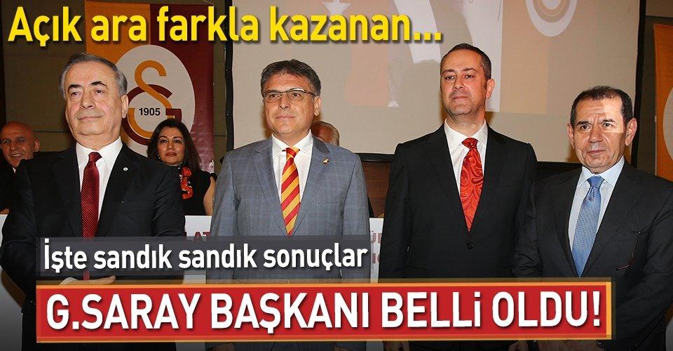 Galatasarayın başkanı belli oldu!