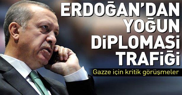 Erdoğandan peş peşe telefon görüşmeleri
