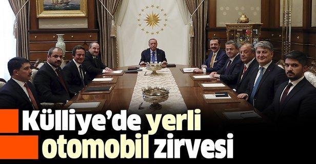 Erdoğan'dan yerli otomobil zirvesi