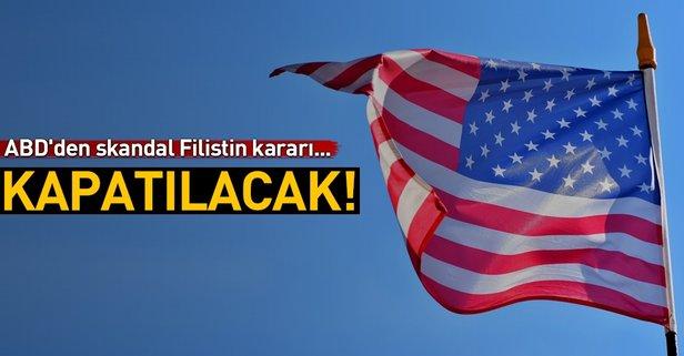 ABD'den Filistin ile ilgili skandal karar!