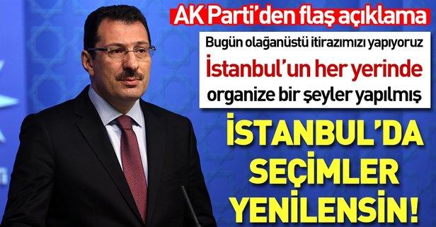 İstanbul'da seçimlerin yenilenmesini istiyoruz