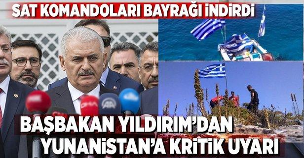 Başbakan Yıldırımdan Yunanistana uyarı!