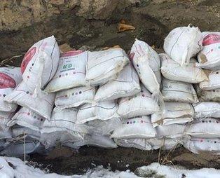 Terör örgütü PKK'ya bir darbe de Van'da vuruldu! 2 ton amonyum nitrat ele geçirildi