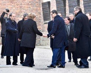 Dünya bu görüntüyü konuşuyor! Merkel dengesini kaybetti ve...