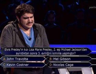 Kim Milyoner Olmak İster 814.son bölümde geceye damgasını vuran Elvis Presley sorusu...