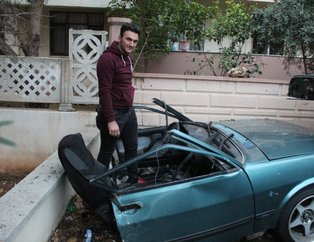 İkiye ayrılan araçtan burnu bile kanamadan çıkmıştı! O sürücü konuştu