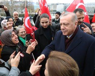 Başkan Erdoğan'a İsviçre'de sevgi gösterisi!