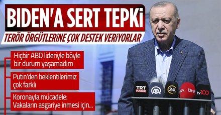 SON DAKİKA: Yeni tedbirler gelecek mi? Başkan Erdoğan cuma sonrası konuştu! Amerika'ya sert mesaj: Teröre yüklü miktarda silah araç desteği veriyor
