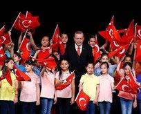Cumhurbaşkanı Erdoğandan 23 Nisan mesajı
