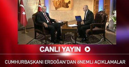 Cumhurbaşkanı Erdoğan özel bir radyo programında soruları yanıtlıyor