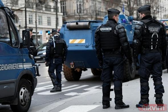 Paris'te hayat durdu! Gösteriler sürüyor
