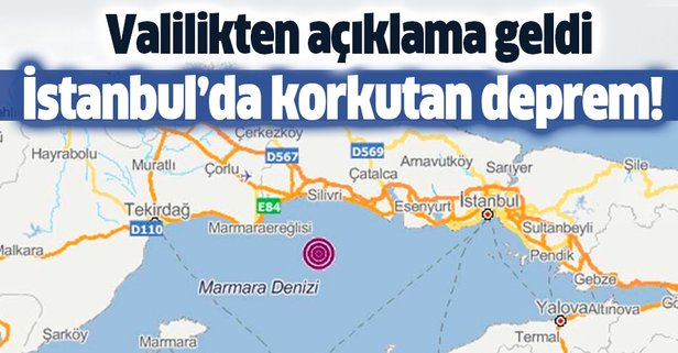 İstanbul'da deprem mi oldu? İstanbul deprem şiddeti kaç?