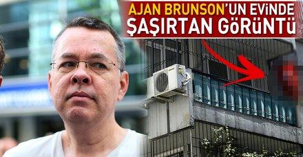 Ajan Brunson'un evinin balkonuna Türk bayrağı asıldı