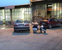 Otomobilin renk tonunu beğenmedi dehşet saçtı!