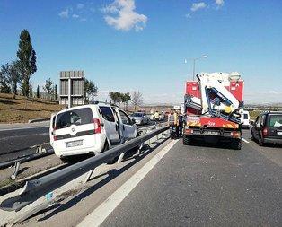 TEMde feci kaza! Trafik felç!