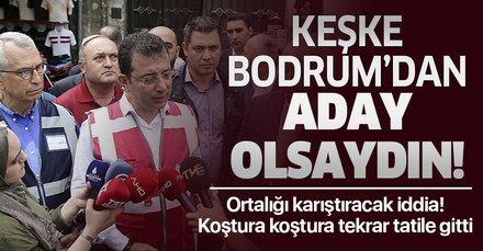 Ortalığı karıştıracak iddia! Ekrem İmamoğlu sel felaketinin yaraları henüz sarılmadan tekrar Bodrum'a tatile gitti