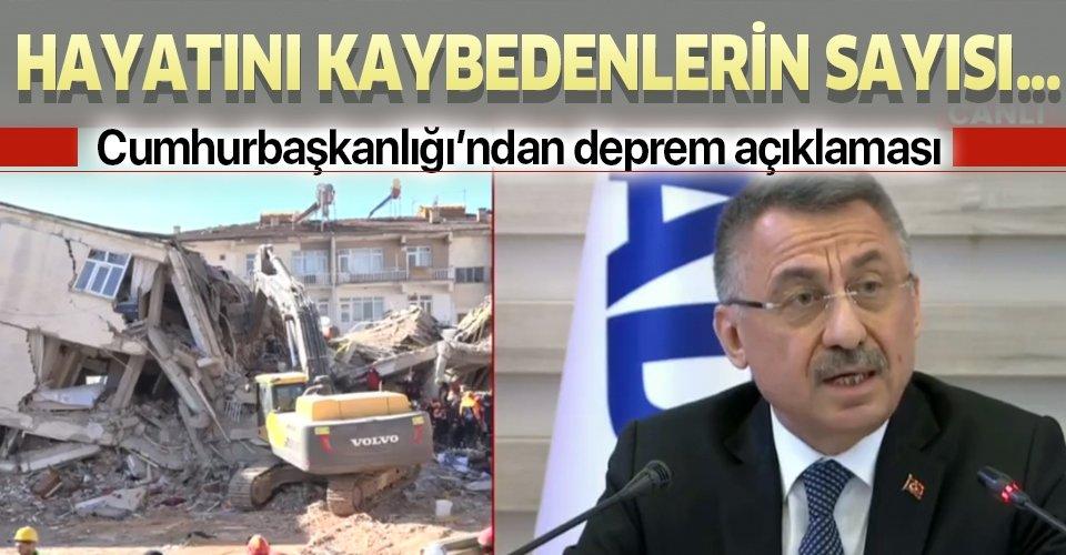 Fuat Oktay'dan flaş Elazığ depremi açıklaması