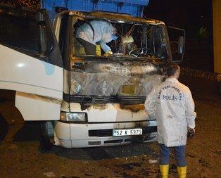 21 yaşındaki genç kamyon içinde yanarak can verdi