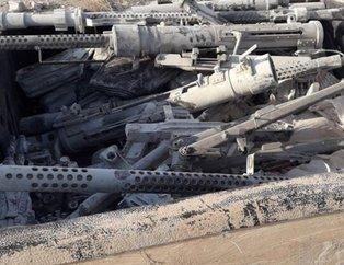 YPG'li hainler ABD'nin TIR'larla gönderdiği silahları bırakıp kaçtılar!