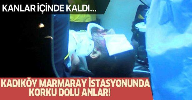 Marmaray istasyonunda korkunç olay!