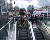 Taksim Metrosu'nda intihar! Seferler durduruldu