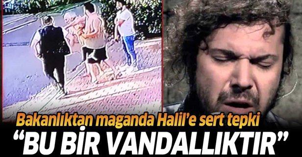 Bakan Gül'den Halil Sezai yorumu: Bu bir vandallıktır.